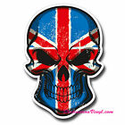 2 x Glossy Vinyl Stickers - Union Jack Flag Skull Cool Funny Laptop Decal #0105