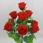 10 Heads Rose Wedding Home Party Silk Flowers Decorate Centerpiece Artificial