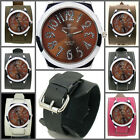 UK0512 Deluxe Crystal No. Punk Watch Rock Men/Women Wide Leather Band Cuff