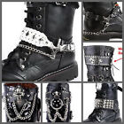 UW19 Faux Leather BAND for Shoe Boot DIY PUNK ROCK GOTHIC (NO SELLING SHOE)