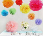 5pcs Paper Flower Ball Wedding Bouquet Home Outdoor Pom-Poms Decor 15/20/25/30cm