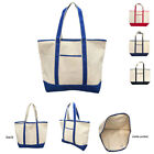"""Heavy Duty Canvas Reusable Grocery Beach Gusset Shopping Tote Totes Bag Bags 22"""""""