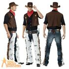 Adult Cowboy Costume Fancy Dress Outfit Mens Male Western New