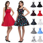 SEXY WOMEN RETRO 50'S STYLE ROCKABILLY SWING VINTAGE FLORAL DRESS NEW IN UK S~XL