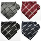 UK Mens Necktie Checked Business Meeting Formal Wedding Tie - Top Quality