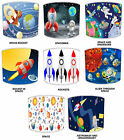 Children`s Outer Space Man Table Lampshades Or Ceiling Lights Shades Pendants