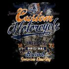 CUSTOM MOTORCYCLE AMERICAS BRAND WORK SHIRT DICKIES BUTTON  W/FREE HARLEY DECAL