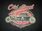 OLD SKOOL HOT ROD VINTAGE WORN LOOK GRAPHIC SPEED HOODIE L TO 4X BLACK
