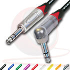 "¼"" Jack to ¼"" Jack Lead. RED MARKING 6.35mm, TRS, Stereo, Balanced Cable. 3m 10m"