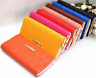 Faux Leather Candy Women Ladies Id Card Holder Phone Pounch Purse Clutch Wallet