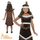 Child Indian Girl Costume Pocahontas Squaw Kids Fancy Dress Outfit New
