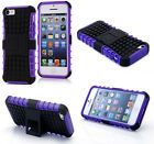 Purple HEAVY DUTY TOUGH SHOCKPROOF WITH STAND HARD CASE COVER FOR iPhone5C TZJ