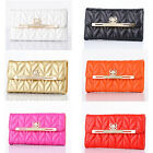 Luxury Leather Bling Diamond Bowknot Wallet Flip Case Cover For iPhone Samsung