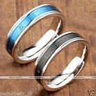 Stainless Steel Carved Roman Numerals Wedding Engagement Band Ring Men Women