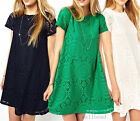 Woman Floral Short Sleeve Lace Dress Mini Skirts Loose Princess Cocktail Evening