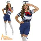 Sassy Sailor Girl Costume Sexy French Navy Fancy Dress Womens Uniform Outfit