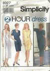 Simplicity Pattern 8927 Misses 2 Hour Pullover Dress Sizes 6 - 24 (XS - XL)