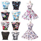 British Styles New 50s Vintage Rockabilly Swing Tea Dress Cocktail Party Prom 22