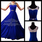 Chiffon Long Formal Dress Bridesmaid Evening Ball Gown Prom Party Dress US