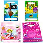 PARTY LOOT BAGS empty foil children boy girl birthday Pirate Fairy Animals H