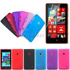 Matte Silicone TPU Gel Rubber Soft Back Case+Protector For Nokia Lumia 520 525