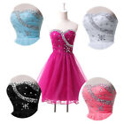 Charm Evening Gowns Cocktail Dancing Bridesmaid 5 Colours Short Mini Prom Dress