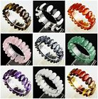 20x10mm Faceted Kinds of stone ellipse in series Bracelet 20pcs