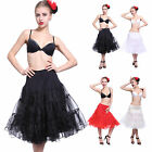 Retro Petticoat Swing Unterrock Rockabilly Pettiskirt Tutu Rock Pin Up Skirt