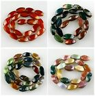 J57153 Agate twisted beads loose beads