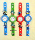 MARIO JIBBITZ BAND WATCH & 2 CHARMS, BOX AVAILABLE IF REQUIRED