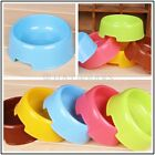5 Colors Plastic Round Style Pet Cat Dog Food Water Feeding Feeder Bowl Dish GBW