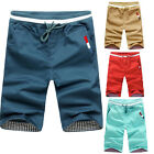 HOT 9 Color 8 Size Men's Summer Cotton Stretchy Waist Casual Beach Shorts Pants