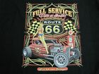 FULL SERVICE RAT ROD GARAGE ROUTE 66 LONG SLEEVE T SHIRT W/FREE HARLEY DECAL
