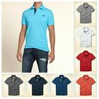 New Hollister by Abercrombie Men Pearl Street POLO Shirt Muscle Fit size Cotton