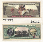 Native American 1 Million Dollars Novelty Bill Notes 1 5 25 50 100 500 or 1000