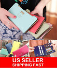 New lady Women Leather Bowknot Clutch Wallet Long Card Holder Purse Handbag USA