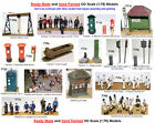 OO Scale Model Kits MADE and PAINTED! Figures, Animals, Cricket Team, Scenery