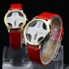 Romantic Mens Womens Couple Lover Red  Leatheroid Quartz Movement  Wrist Watches