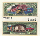 Country Western 1 Million Dollar Bill Novelty Notes 1 5 25 50 100 500 or 1000