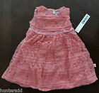 NWT DKNY Infant Baby Girl Short Sleeved Tulip Lace Dress 18m 24m NEW $52 4f