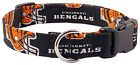 Country Brook Design Bengals Custom Handmade Designer Dog Collar