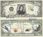 1788 U.S.A. State of Maryland MD Novelty Bill Notes 1 5 25 50 100 500 or 1000