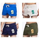 Men Drawstring Breathable Shorts Sports Run Training Jogging Gym Comfy Casual