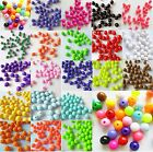 100Pcs 10mm Round ACRYLIC BEAD Resin Miracle Illusion Jell Beads Multi Colors