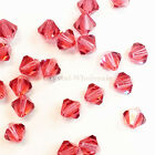 6mm Indian Pink (289) Genuine Swarovski crystal 5328 / 5301 Loose Bicone Beads