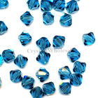 6mm Indicolite (379) Genuine Swarovski crystal 5328 / 5301 Loose Bicone Beads