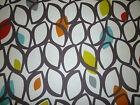 Tablecloth Round Square Funky Blue Grey Yellow/Green Retro Cotton Washable
