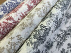 Vintage Toile de Jouy French Designer Upholstery Curtain Cushion Use Fabric