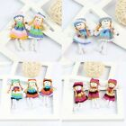 10* Cute Multicolour Handmade Cloth Dolls Puppets Baby Kids Soft Toys, Applique