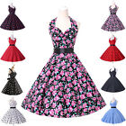 fast London ROCKABILLY Vintage 50s 60 style Floral Summer Party Prom Swing dress